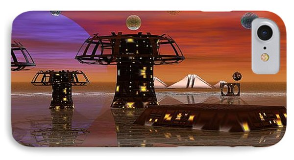 IPhone Case featuring the digital art Somewhere In Space by Jacqueline Lloyd
