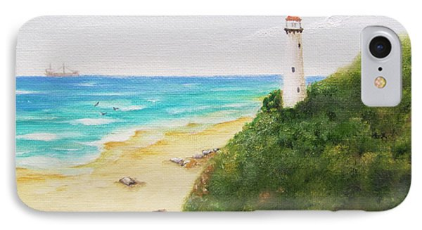 IPhone Case featuring the painting Somewhere There Is A Lighthouse by Jimmie Bartlett