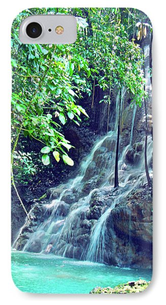 Sommerset Falls Jamaica IPhone Case by Carey Chen
