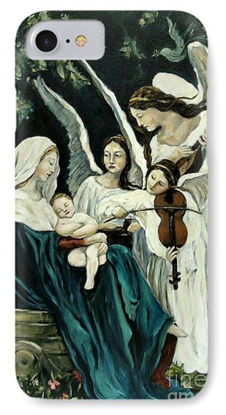Song Of The Angels Phone Case by Carrie Joy Byrnes