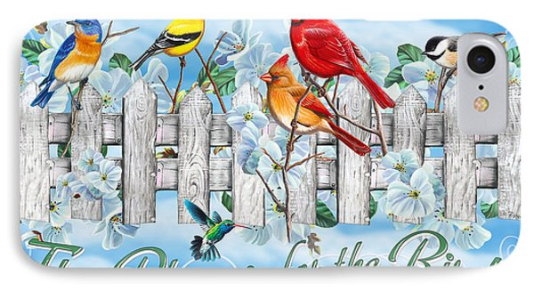 Cardinal iPhone 7 Case - Songbirds Fence by JQ Licensing