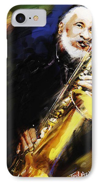 Sonny Rollins Groovin' The Sax IPhone Case by Ted Azriel