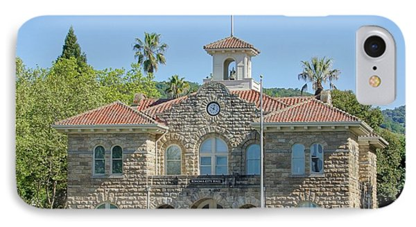 Sonoma City Hall Phone Case by Jenny Hudson