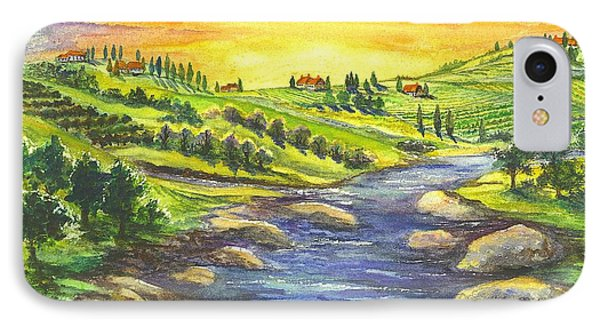 Sonoma Country IPhone Case by Carol Wisniewski