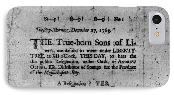 Sons Of Liberty Broadside IPhone Case by Granger