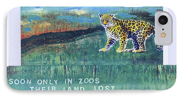 Soon Only In Zoos  Their Land Lost IPhone Case by Mary Ann  Leitch