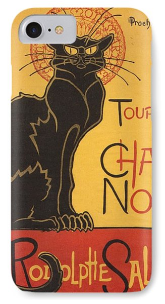Soon The Black Cat Tour By Rodolphe Salis  IPhone Case by Tracey Harrington-Simpson