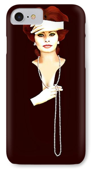 Sophia Loren 1 IPhone Case by Jann Paxton