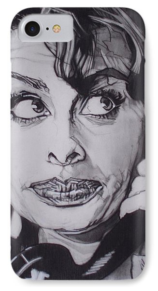 Sophia Loren Telephones IPhone Case by Sean Connolly