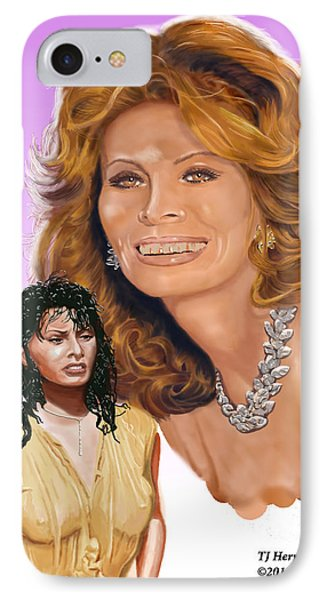 IPhone Case featuring the digital art Sophia Loren by Thomas J Herring
