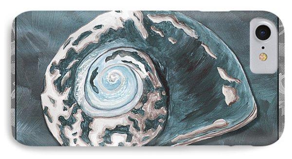 Sophisticated Coastal Art Original Sea Shell Painting Beachy Sea Snail By Megan Duncanson Of Madart Phone Case by Megan Duncanson