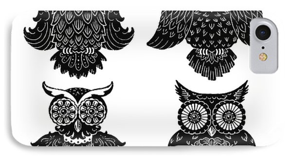 Sophisticated Owls All 4 Phone Case by Kyle Wood