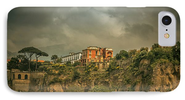 Sorrento Cliff Top Residence IPhone Case by Chris Fletcher