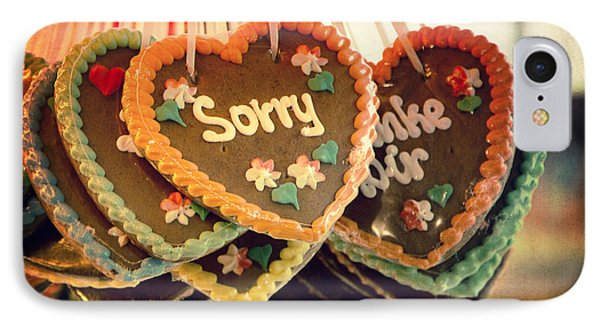 Sorry Gingerbread IPhone Case by Jane Rix