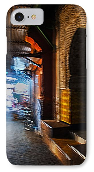 Souk And Mosque Door In Marrakech IPhone Case