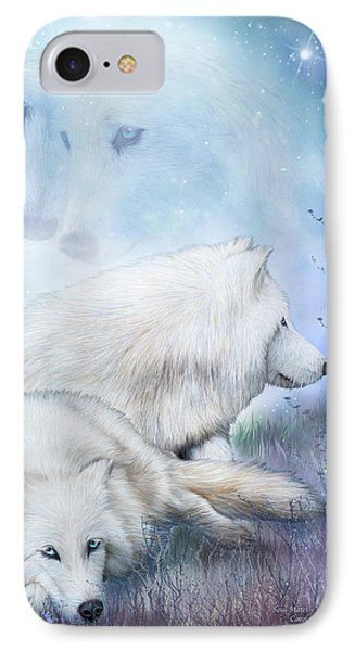 Soul Mates - White Wolves IPhone Case