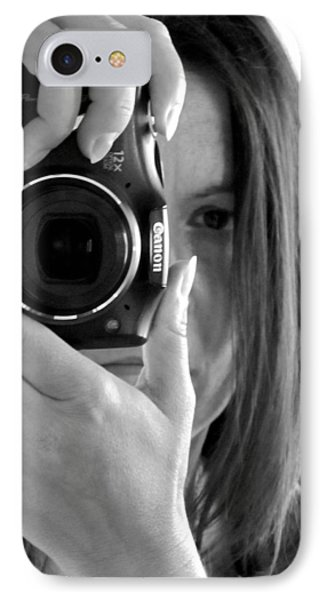 Soul-searching - Self-portrait IPhone Case