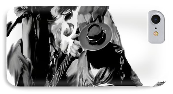 Soul To Soul  Stevie Ray Vaughan Phone Case by Iconic Images Art Gallery David Pucciarelli