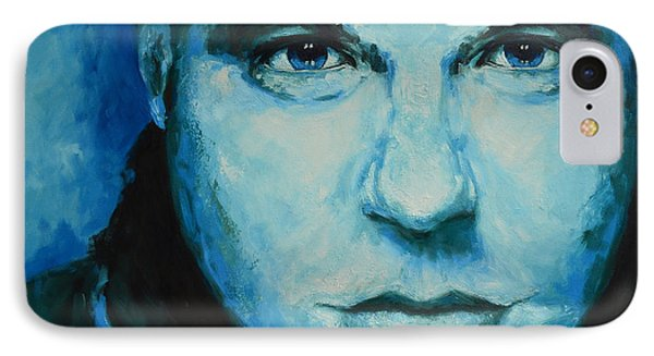 Soulful Portrait Under Blue Light IPhone Case by Patricia Awapara