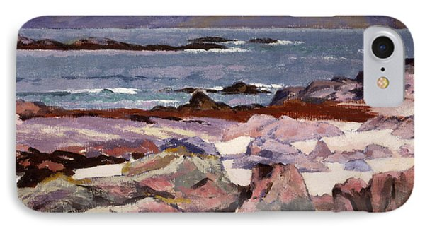 Sound Of Iona  The Burg From The North Shore IPhone Case by Francis Campbell Boileau Cadell