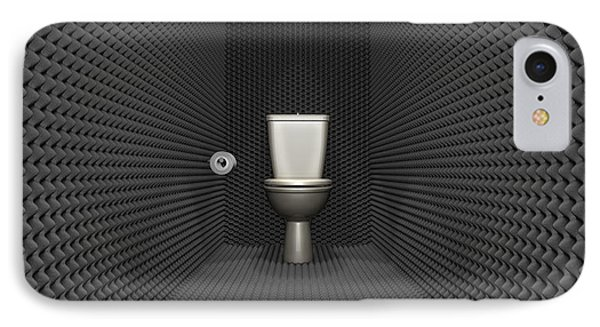 Soundproof Toilet Cubicle IPhone Case by Allan Swart