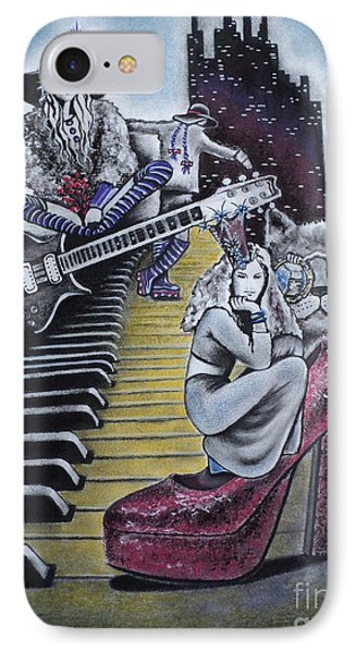 IPhone Case featuring the drawing Sounds Of The 70s by Carla Carson