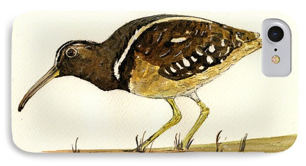 South American Painted Snipe Phone Case by Juan  Bosco
