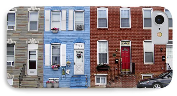 IPhone Case featuring the photograph South Baltimore Row Homes by Brian Wallace
