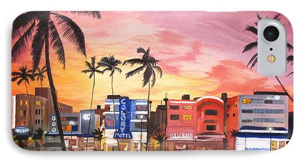 South Beach Ocean Drive IPhone Case by Kevin F Heuman