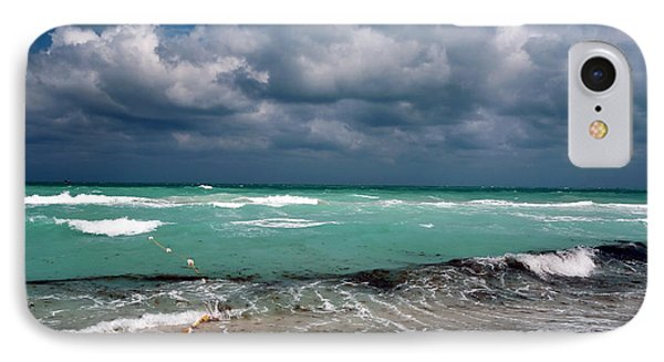 South Beach Storm Clouds Phone Case by John Rizzuto