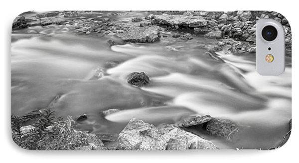 South Boulder Creek Little Waterfalls Rollinsville Bw Phone Case by James BO  Insogna