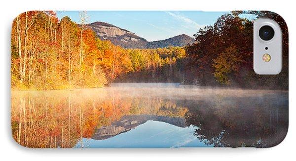 South Carolina Table Rock State Park Autumn Sunrise - Balance IPhone Case by Dave Allen