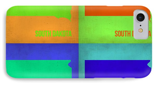 South Dakota Pop Art Map 1 Phone Case by Naxart Studio