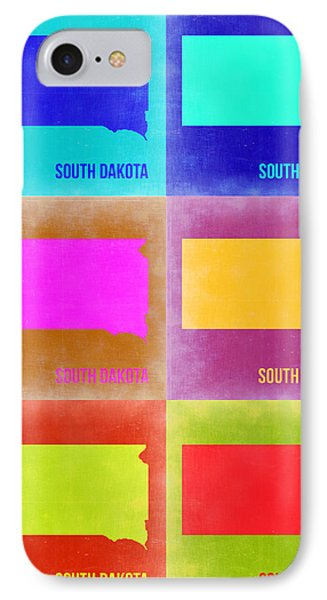 South Dakota Pop Art Map 2 IPhone Case by Naxart Studio