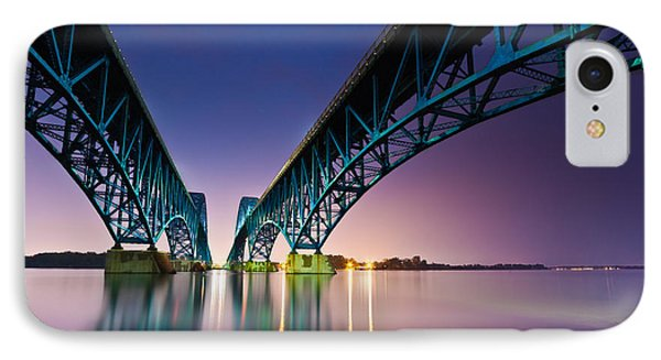 South Grand Island Bridge IPhone Case by Mihai Andritoiu