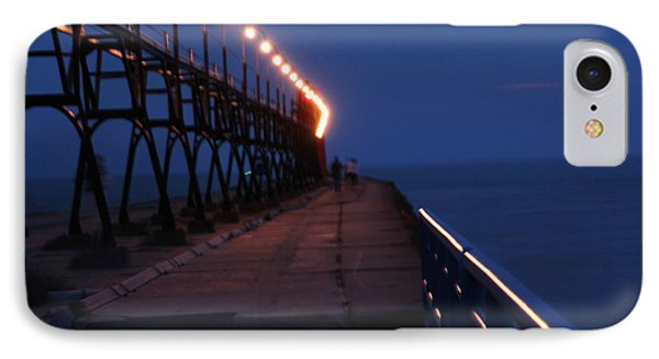 IPhone Case featuring the photograph South Haven Pier At Twilight by Bill Woodstock