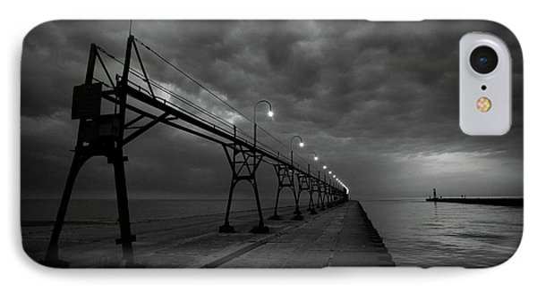 South Haven Pier IPhone Case by Sebastian Musial