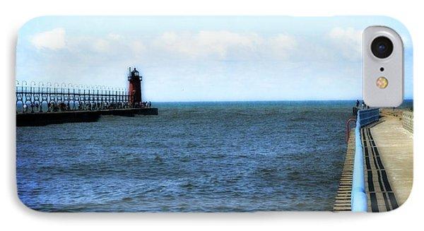 South Haven South Pierhead Light IPhone Case by Michelle Calkins