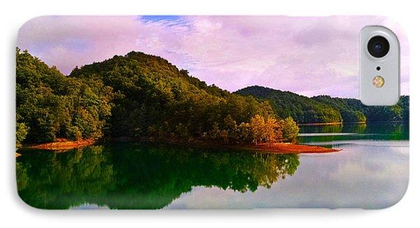 North Holston Lake Mountains IPhone Case by Jeff Kurtz