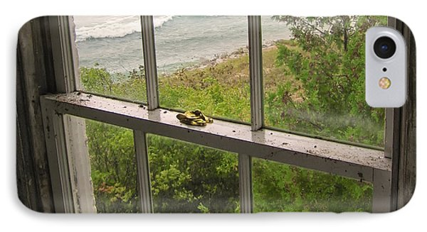 South Manitou Island Lighthouse Window IPhone Case by Mary Lee Dereske