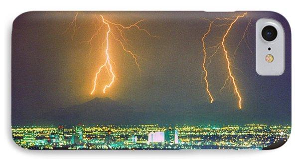 South Mountain Lightning Strike Phoenix Az Phone Case by James BO  Insogna