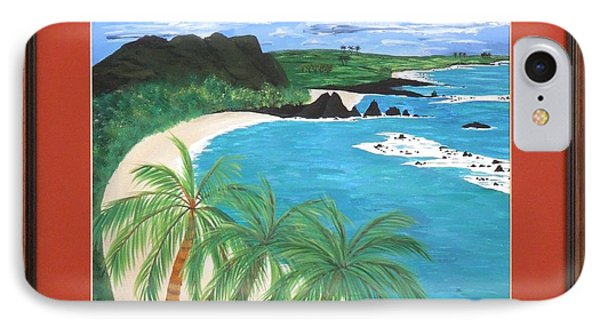 IPhone Case featuring the painting South Pacific by Ron Davidson
