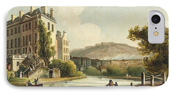 South Parade From Bath Illustrated Phone Case by John Claude Nattes
