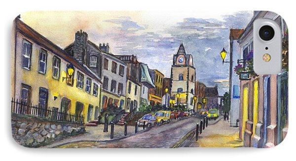 Nightfall At South Queensferry Edinburgh Scotland At Dusk IPhone Case by Carol Wisniewski