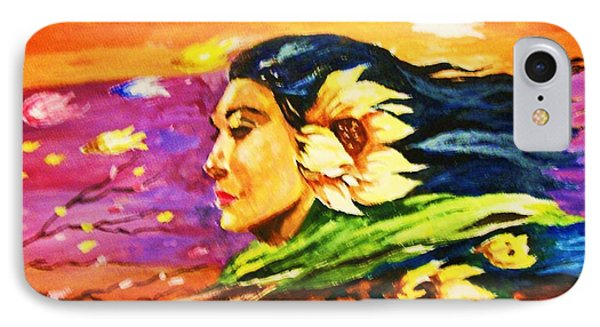IPhone Case featuring the painting South Sea Breeze  Fleeting Blossoms by Al Brown