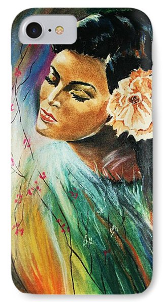 IPhone Case featuring the painting South Sea Flower by Al Brown