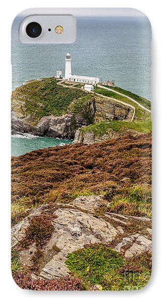 South Stack Lighthouse Phone Case by Adrian Evans