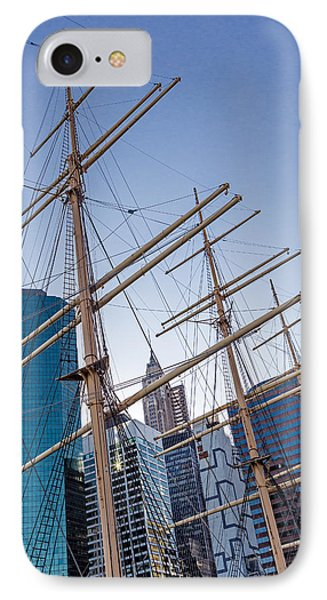 South Street Seaport And Financial District IPhone Case by Susan Candelario
