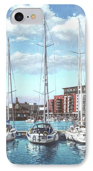 Southampton Ocean Village Marina IPhone Case by Martin Davey
