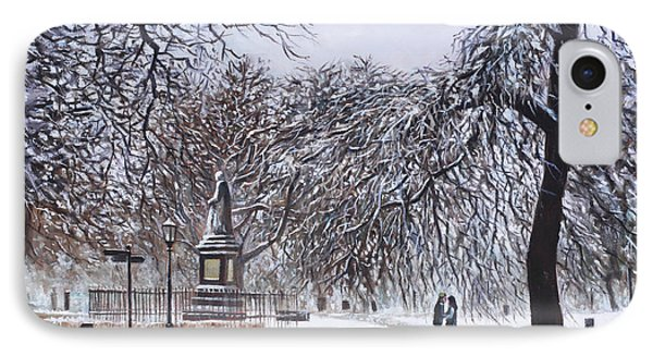 Southampton Watts Park In The Snow Phone Case by Martin Davey